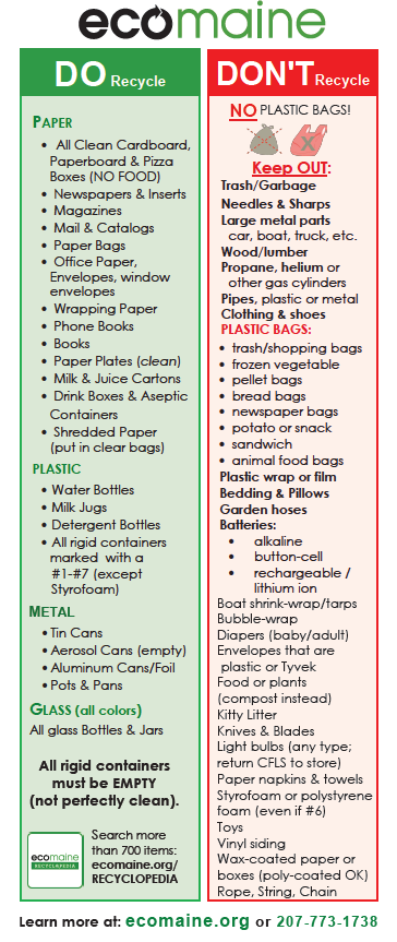 Recycling Do's and Dont's