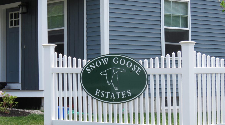 Snow Goose Estates sign